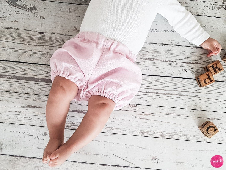 DE Kleinkind Süße Baby Mädchen Leinen Rüschen Shorts Hosen Outfit Sommerkleidung