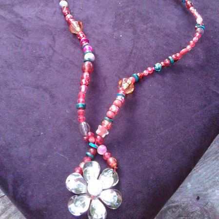Upcycled Red and Pink Spectrum with Huntergreen by SpoonersMusings