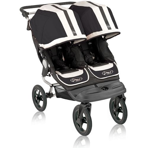Click Image Above To Buy: Baby Jogger City Elite Double Stroller - Black Sport