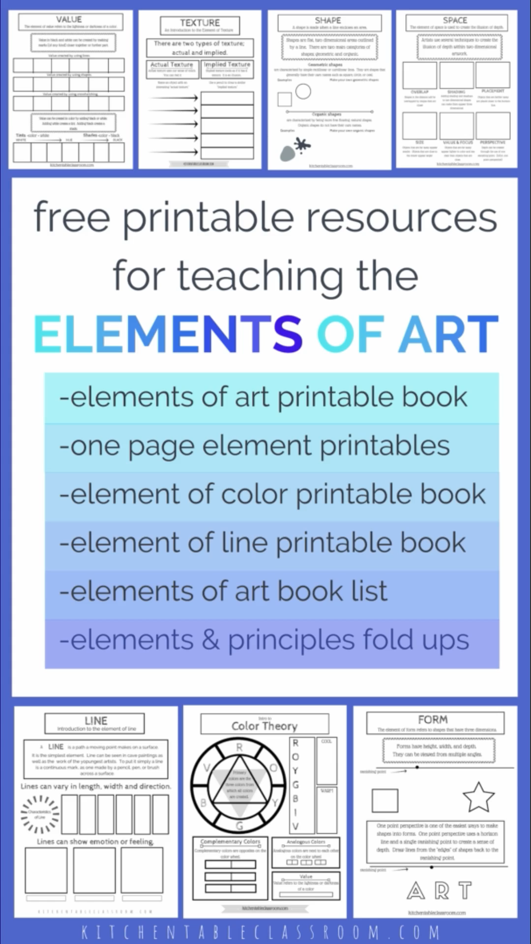 Complete Collection Of Elements Of Art Resources The Kitchen Table Classroom Video Video Elements Of Art Art Lesson Plans Art Worksheets [ 1920 x 1080 Pixel ]