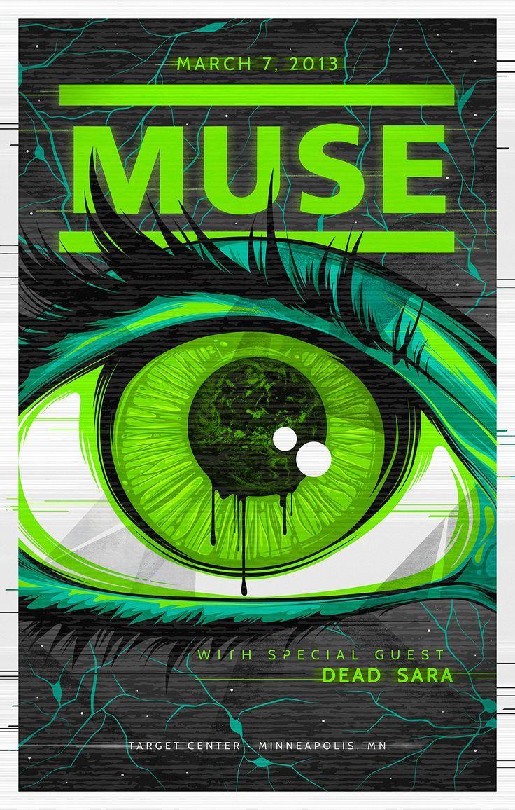 Design muse shark week - Muse Concert Poster The Art Design Of Amelia Lebarron