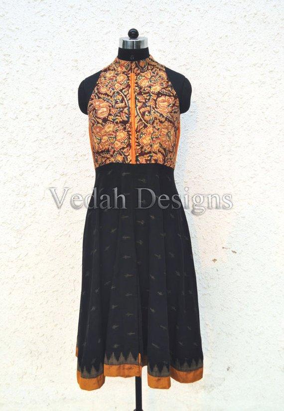 made to order Kalamkari dress Ikat cotton boho dress hippie clothes women s  clothing dresses for wom 0bdaef001