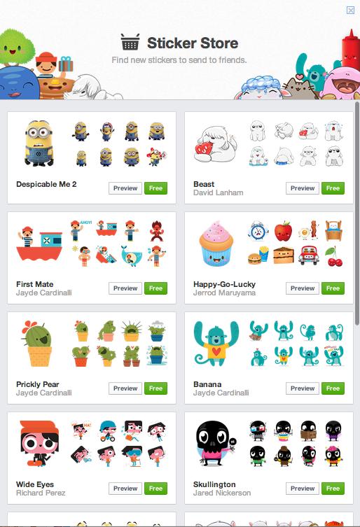 Facebook Stickers Bring New Flavor To Desktop Browser Emoticons