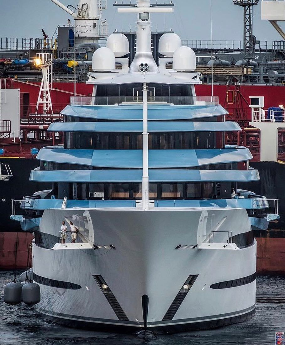 The largest yacht ever built in the Netherlands has been seen in Gibraltar. Full story is now online link in bio. Credit: @superyachts_gibraltar