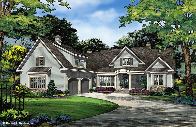 House Plan The Porter By Donald A Gardner Architects New House Plans Courtyard House Plans Craftsman House Plans