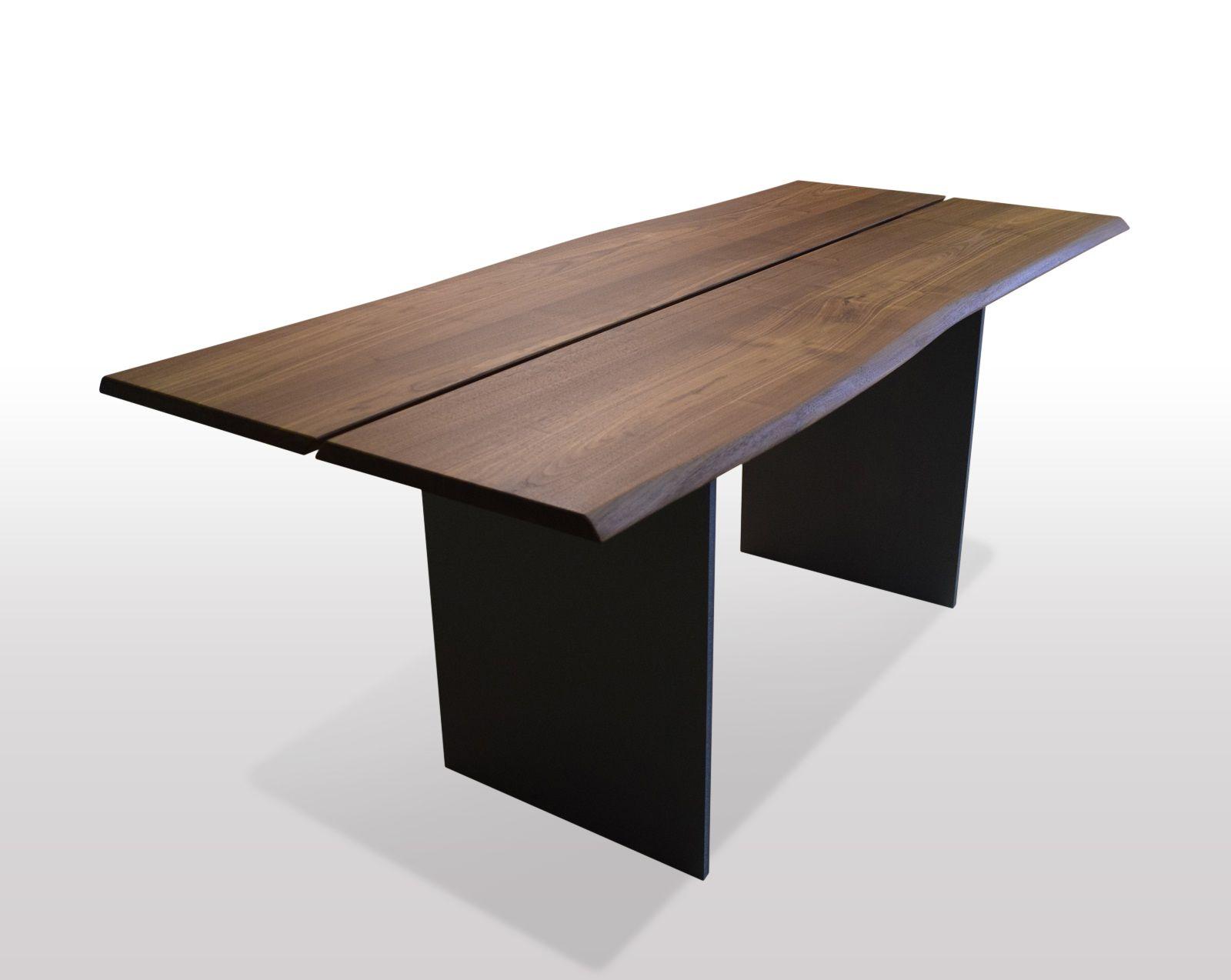 Tisch Mit Baumkante Nussbaum Breite 80cm Länge Wählbar