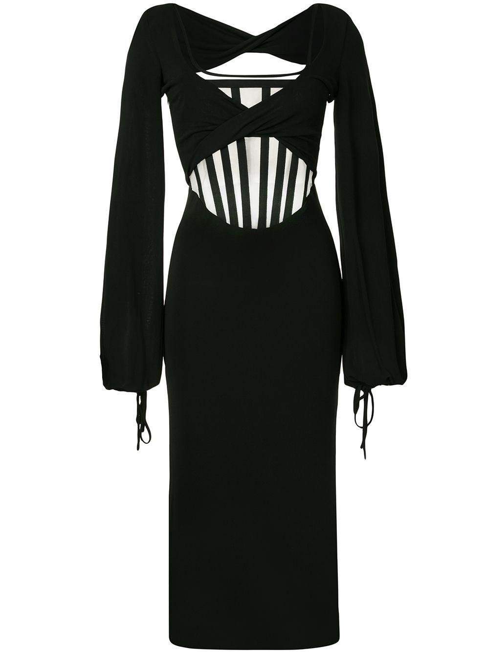 Dion Lee Twist Jersey Corset Dress Farfetch Dion Lee Fashion Corset Dress [ 1334 x 1000 Pixel ]