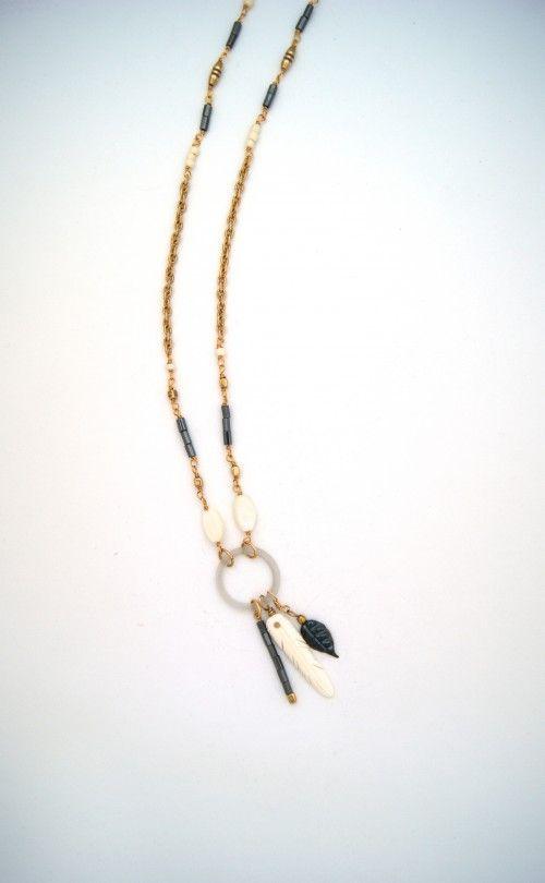 ex voto vintage jewelry violet necklace