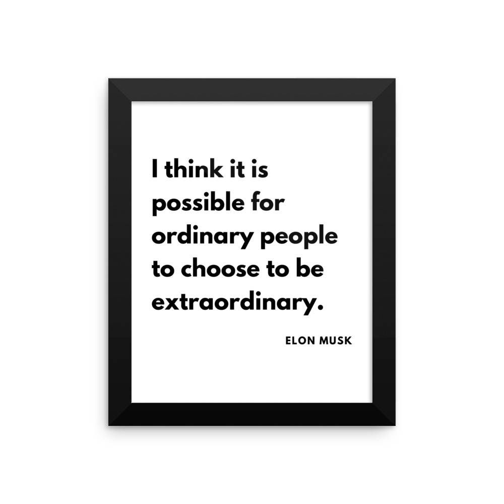 Elon musk motivational quote for entrepreneurs wall decor framed elon musk motivational quote for entrepreneurs wall decor framed poster printed shipping from usa jeuxipadfo Image collections