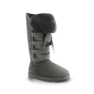 Aukoala Black Lacing Flanging Tall Boots| Pariscoming #pariscoming your personal style online store. #outfit #xmasfashion #party #streetstyle #fashionblog #fashiondiaries #fashiondiary #WearIt #WhatYouWear ✿ ❀ like it? buy now ❀ ✿