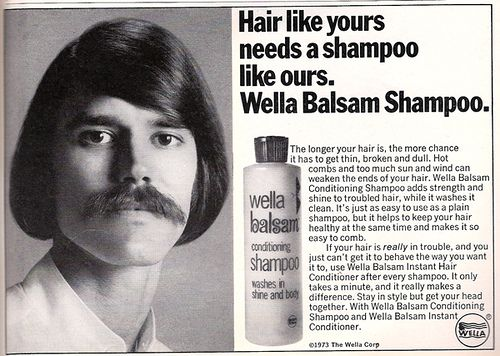 Wella Balsam Shampoo Retro Ad  Funny  Vintage Hairstyles -6560