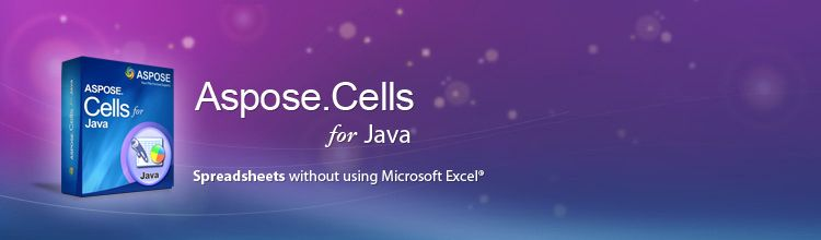 AsposeCells for Java is an award-winning Excel Spreadsheet