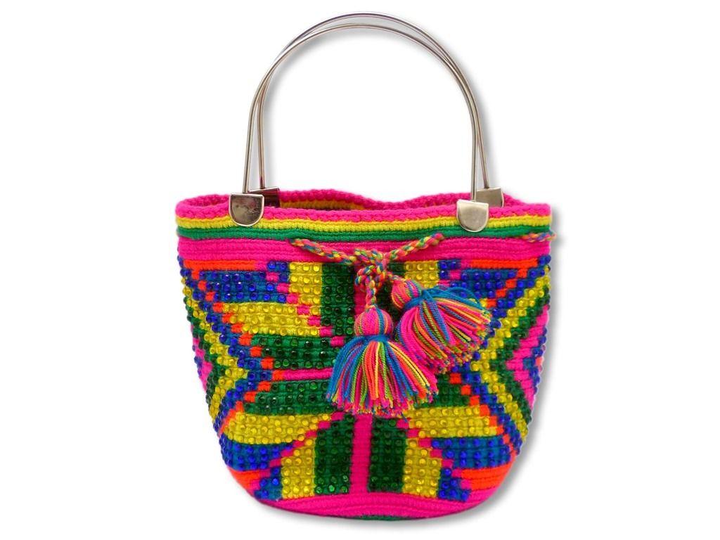 fc350a8a8 Mochila Wayuu Decorada / Bolso Cartera Tula / 21x15+10 - $ 90.000 en  MercadoLibre