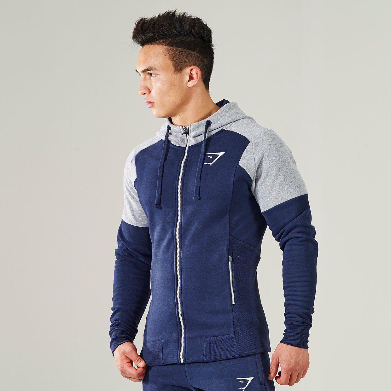 Gymshark Pioneer Zip Hoodie - Sapphire Blue | Athletic ...