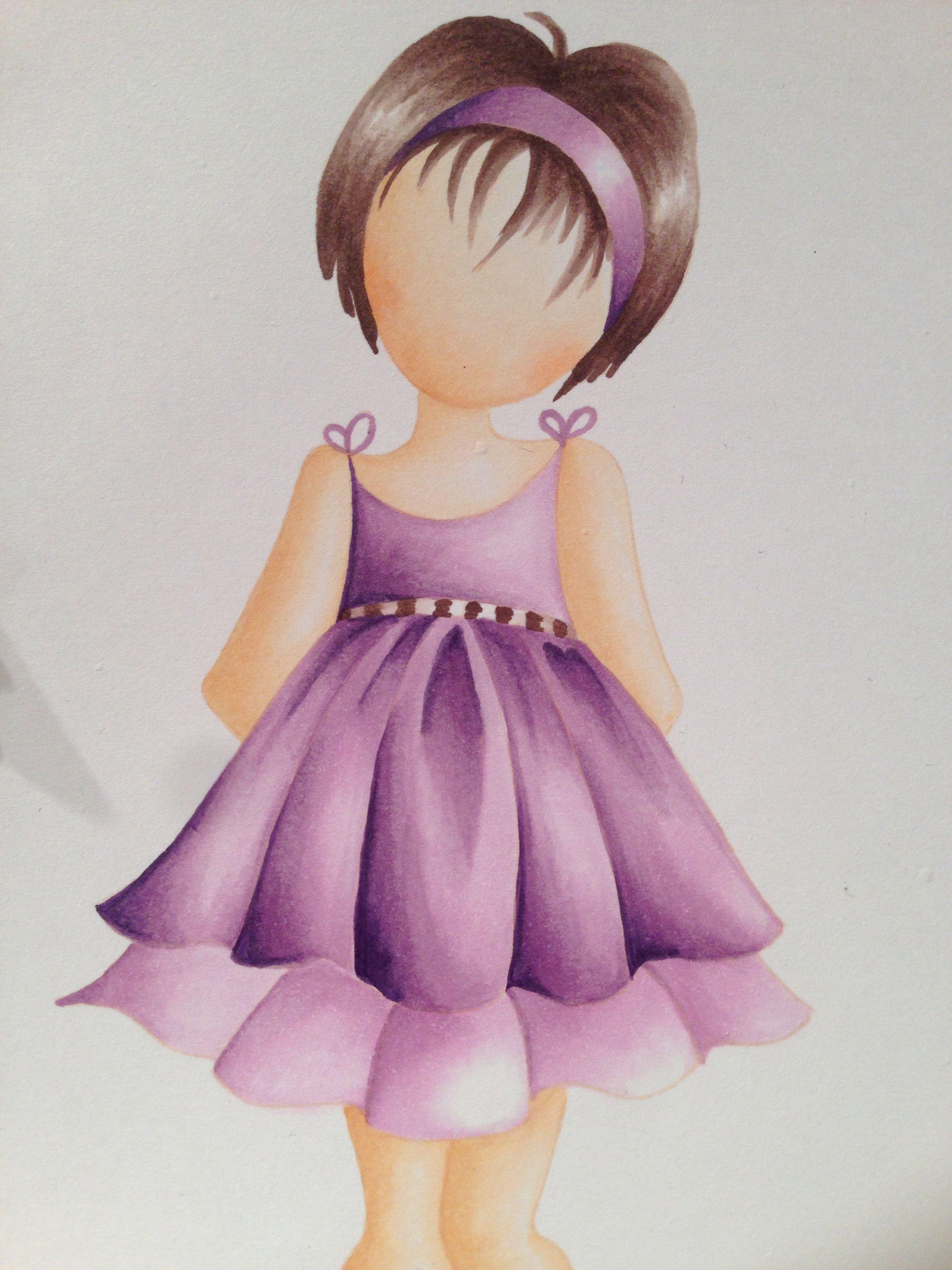 Prima doll coloured with copics By Alexandra Kamann