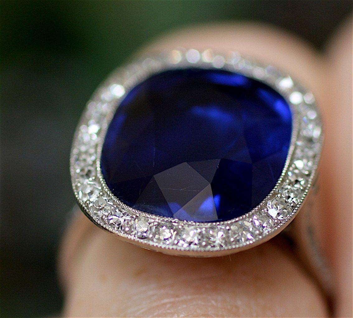 Saphir Birmanie Non Chauffee 12 Carats Ventes Aux Encheres Pierre Precieuse Sapphire Ring Credit P Vintage Jewelry Jewelry Design Jewelry