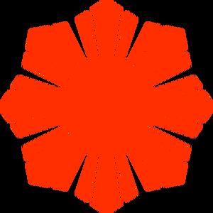 Publicdomainvectors Org Philippine Flag Sun Symbol Red Silhouette Vector Silhouette Vector Vector Drawing Philippine Flag