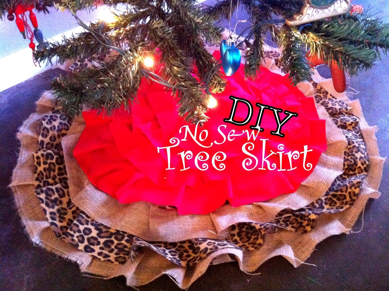 DIY NO SEW Christmas Tree Skirt !! | Diy | Pinterest | Tree skirts ...