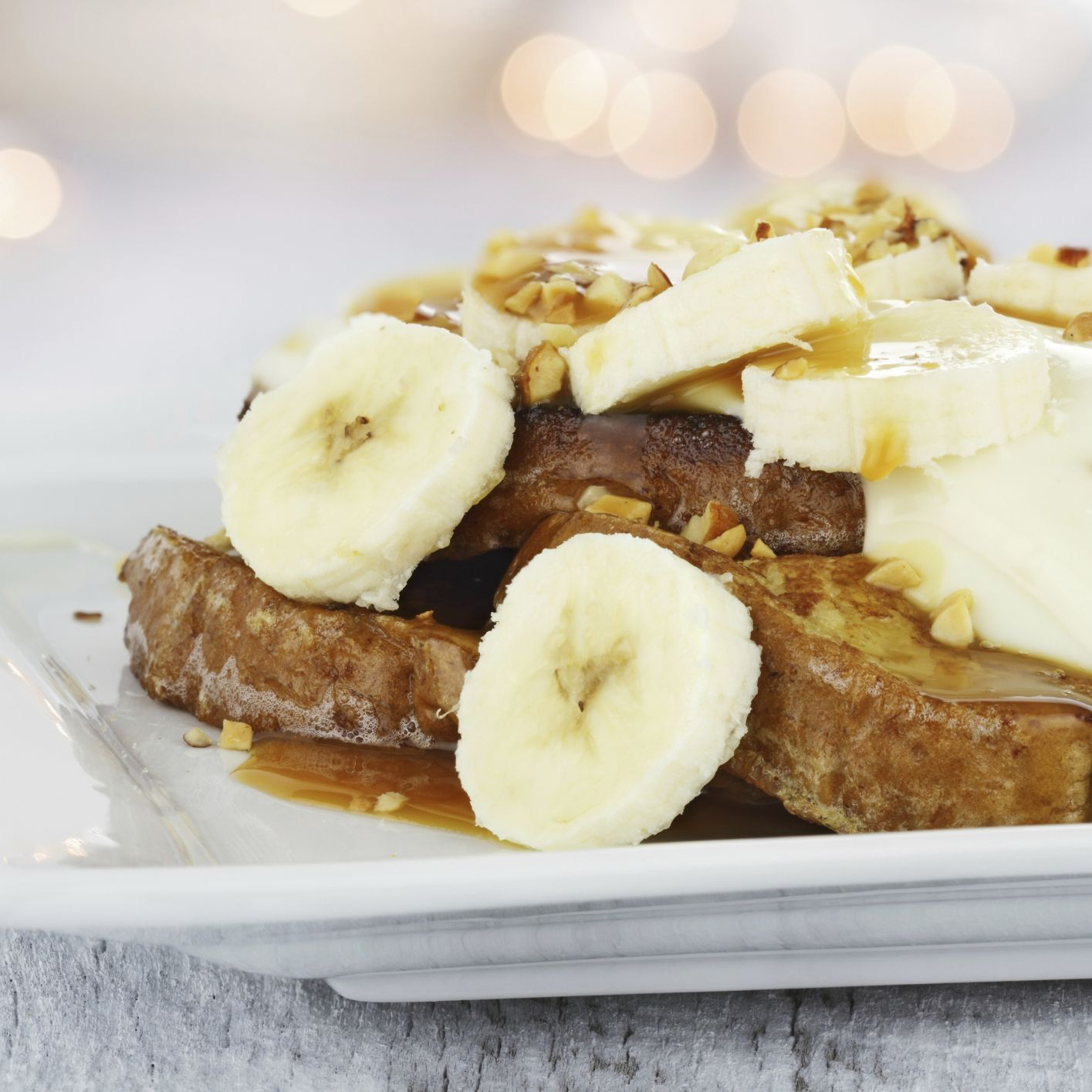 Peanut Butter and Banana Stuffed French Toast   Udi's® Gluten Free Bread