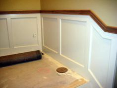 oak chair rail tullsta cover gray baseboard paint color dining area white with matches existing trim