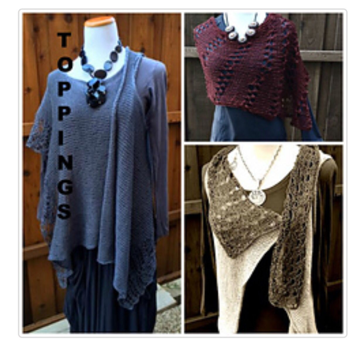 Perfect trio in this e-book for knitters... Toppings on Ravelry