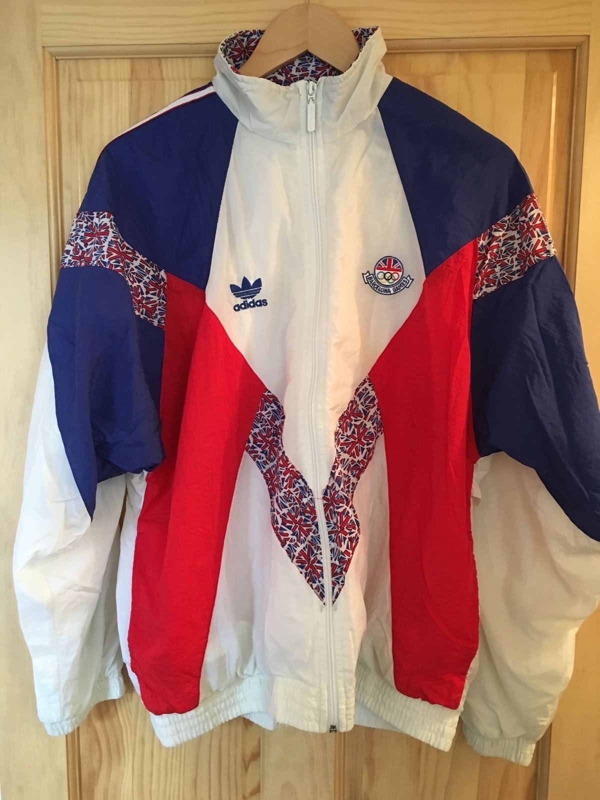 a73348ea680a0 Details about Vintage ADIDAS Team GB Barcelona 92  Olympics ...