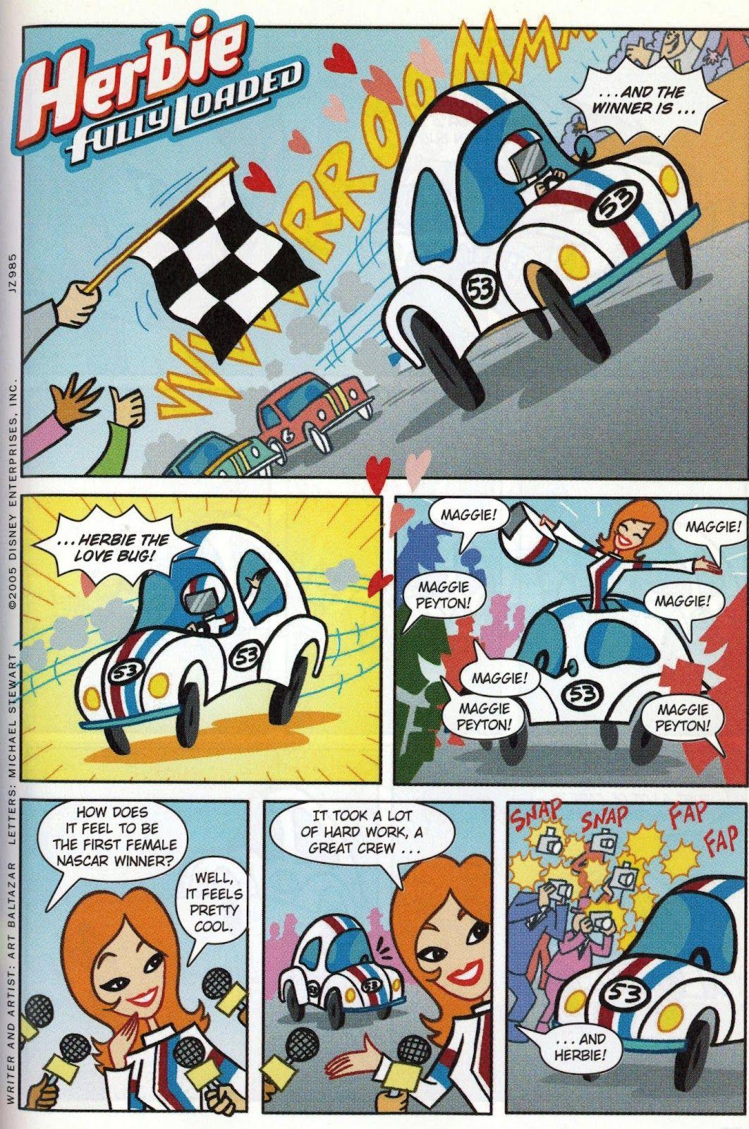 Herbie Fully Loaded Comic By Art Baltazar Love Bugs Herbie Fully Loaded Character Design [ 1600 x 1062 Pixel ]