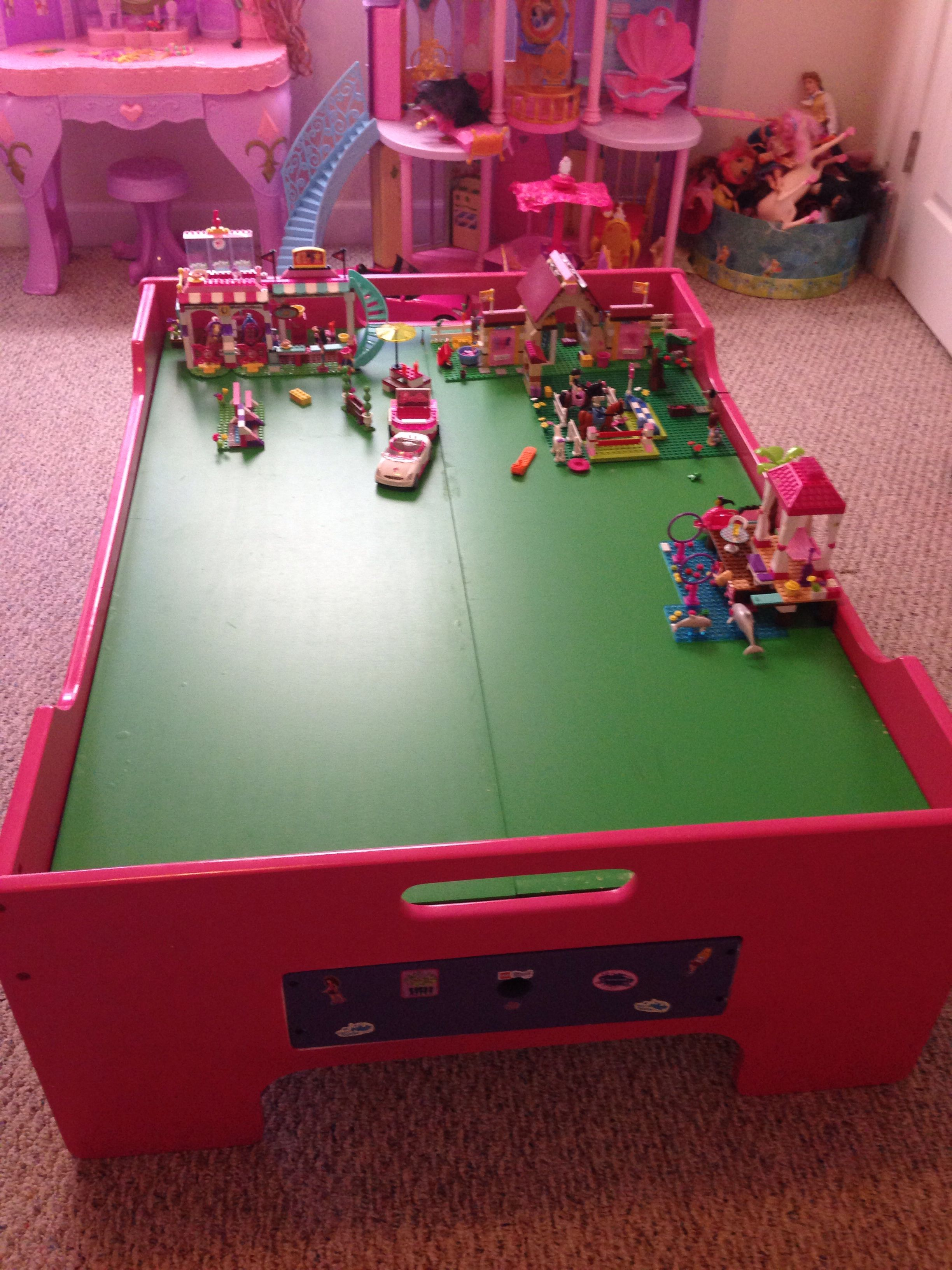 Turned An Old Train Table In To A Lego Friends Table Things For
