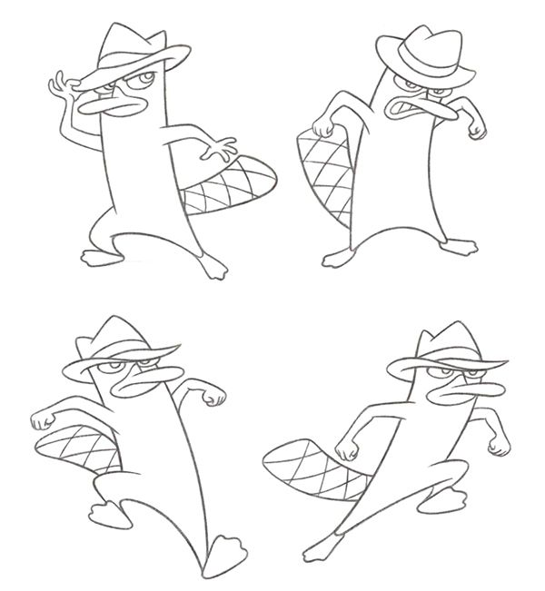 Phineas & Ferb Character Art on Behance | Ollie\'s monsters ...