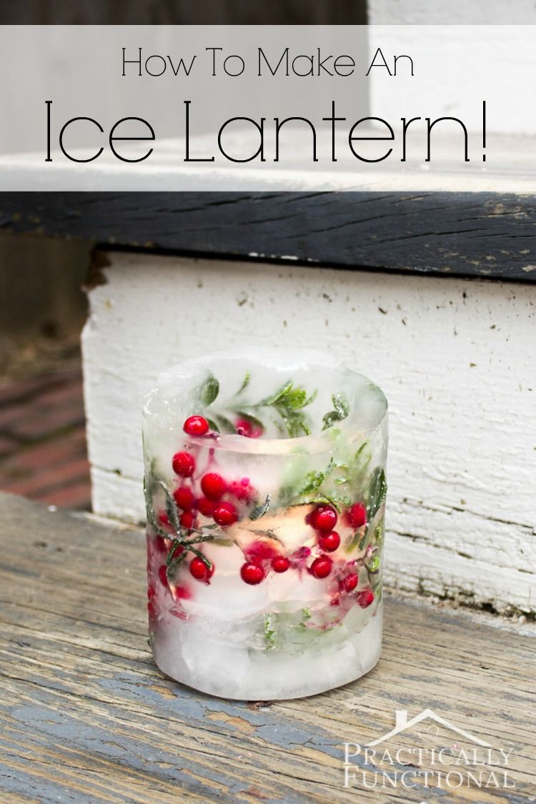 How to make christmas centerpieces with ice - Love These Gorgeous Ice Lanterns Perfect For The Front Porch Now That It S So Cold