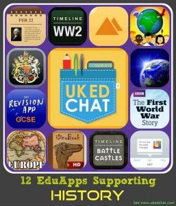 Apps to support history teaching from UKEdChat.