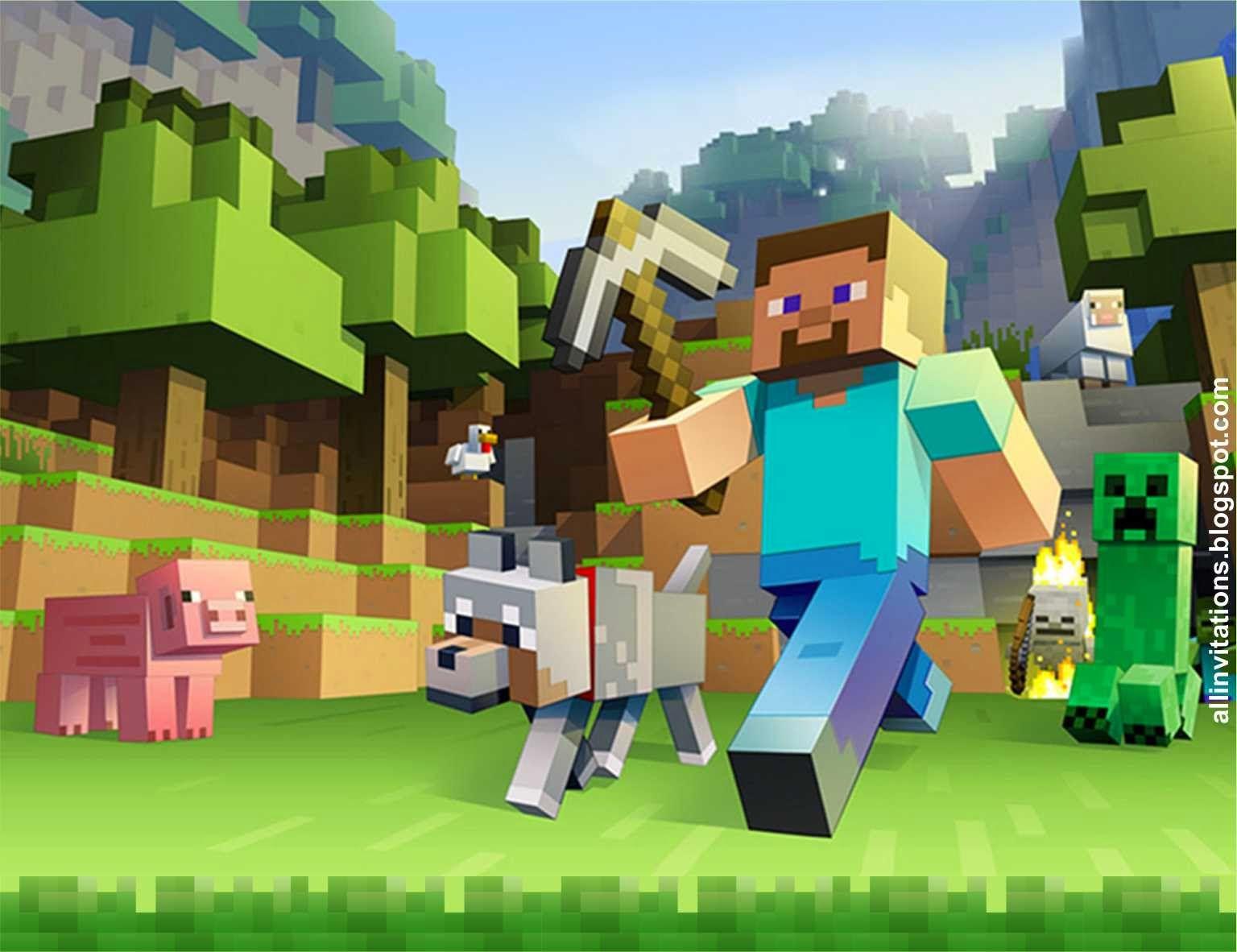 Pin De Rosy Vadillo En Minecraft Party Posters De