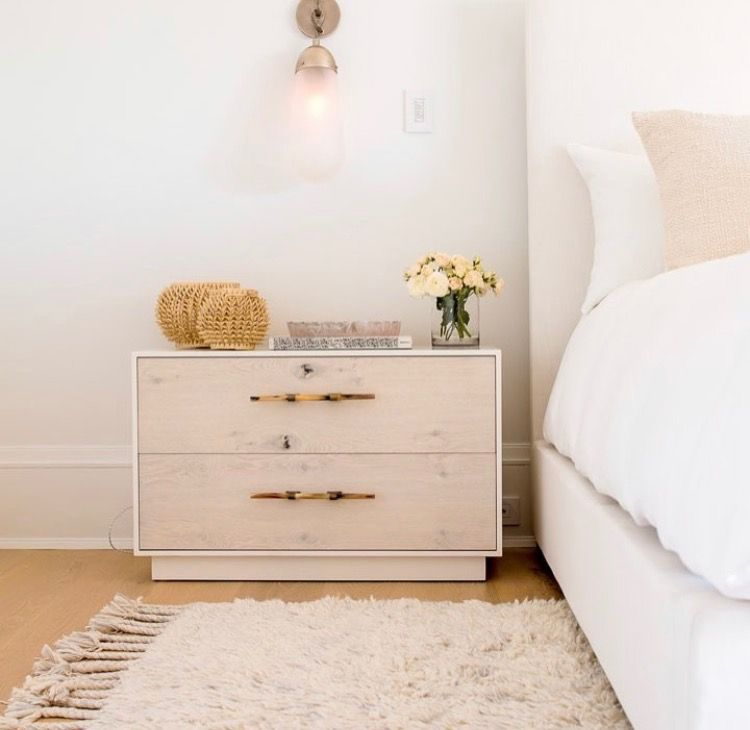 Clean And Simple Bedroom Side Table Bedroom Makeover Bedroom