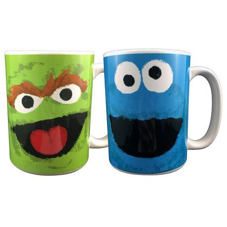 Sesame Street 15 Oz Unique Mugs Multi Coloured Sesame Street Mugs Unique