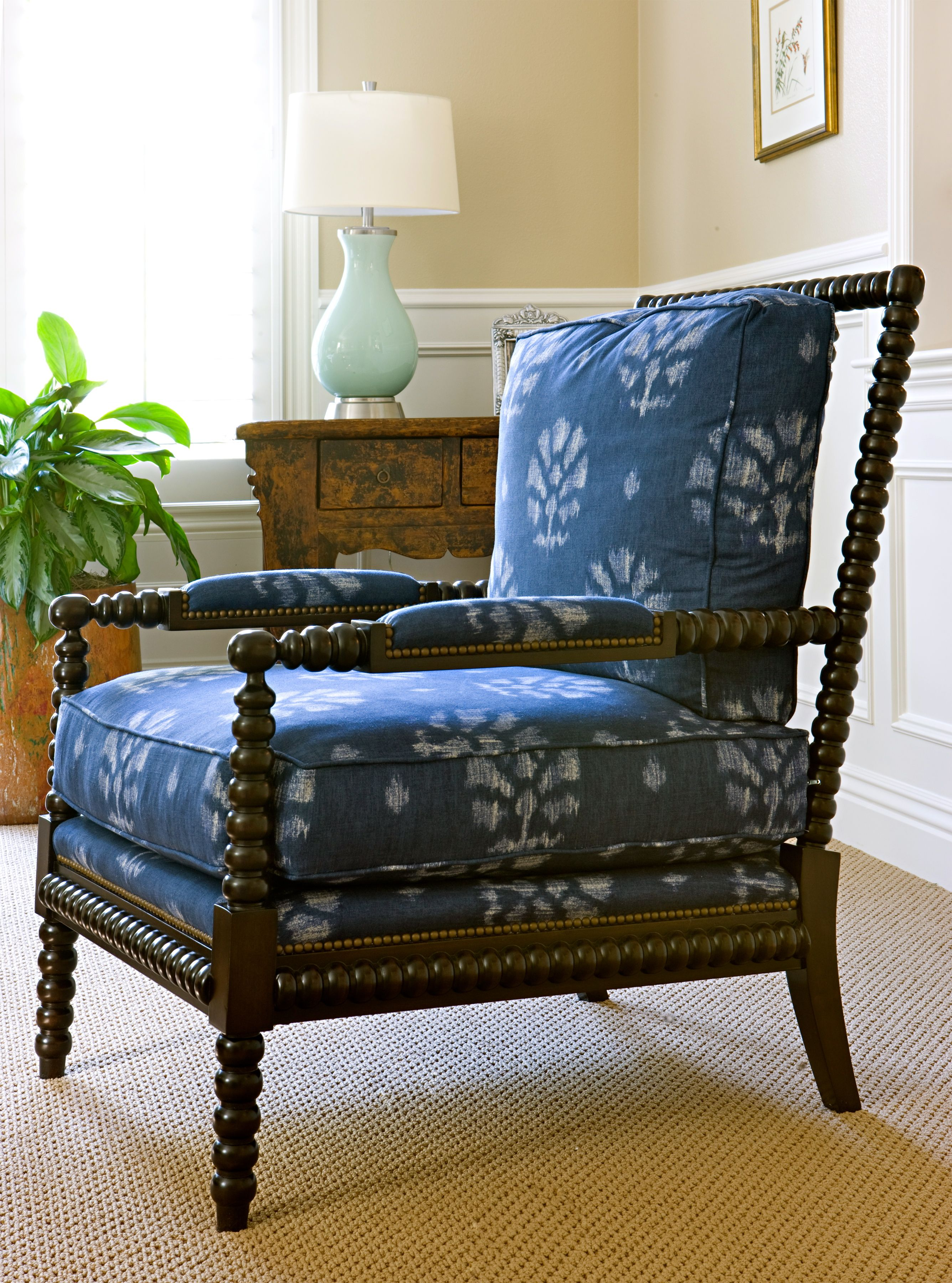 Ikat Occasional Chair, Custom Upholstery by Blackband