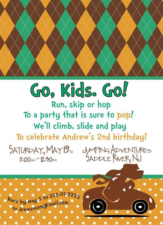 Go, Dog, Go invitation | Dr Seuss party | Go dog go