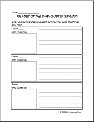 chapter summary Geared towards early primary grades, this chapter summary form will provide you find this pin and more on 도영 by 효남 박 here is a worksheet that can be used when reading a chapter book.
