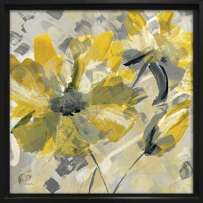 Red Barrel Studio \'Buttercup I\' Painting Print on Wrapped Canvas ...