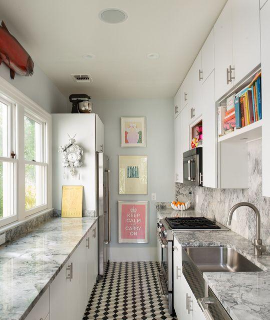 Modern Kitchen. Galley. (designer: Galeana Younger) - via Interior ...