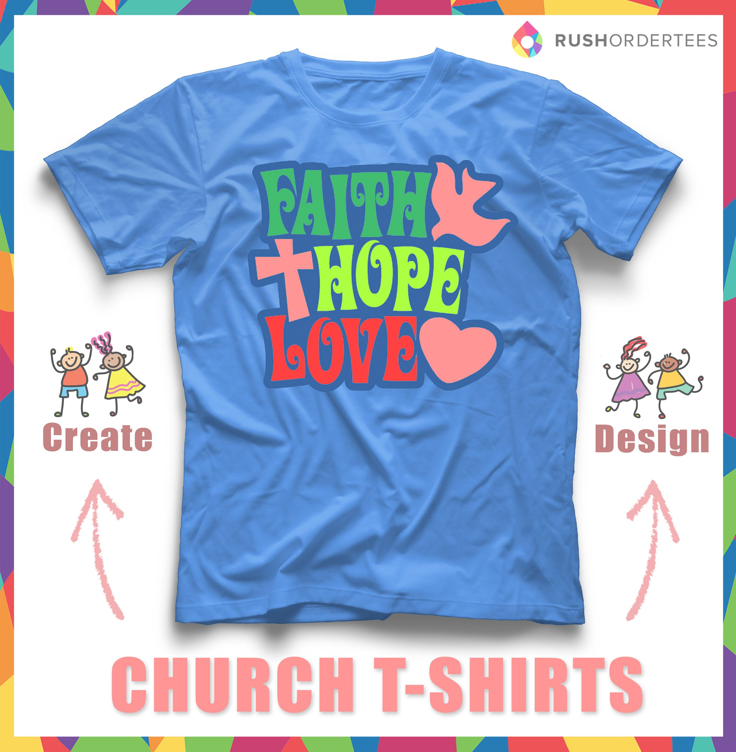 186489c1 Church design idea for your custom t-shirts. You can find more cool church  design ideas at www.RushOrderTees.com #churchshirts