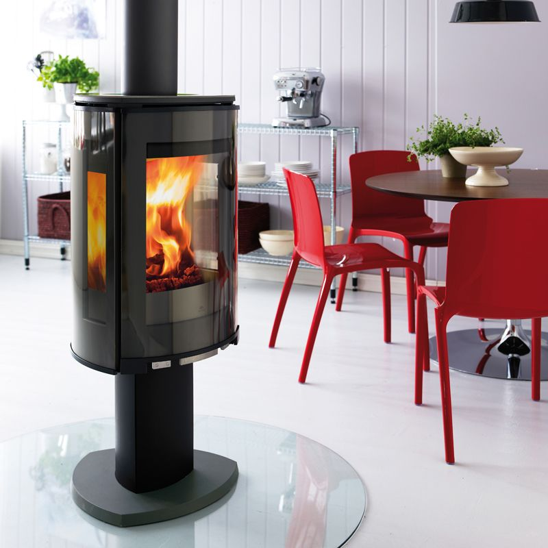 Jotul F373 Wood Burning Stove - Matt Black With Glass Panels - Jotul F373 Wood Burning Stove - Matt Black With Glass Panels