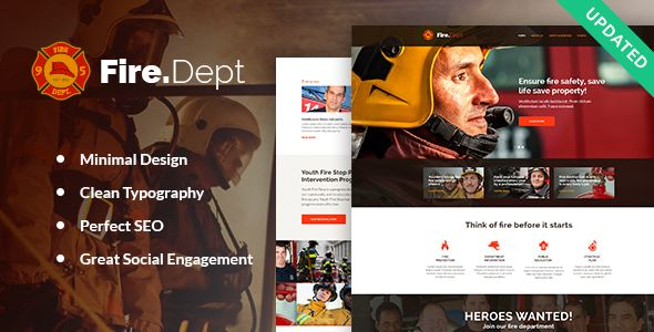 Fire Department Station And Security WP Theme