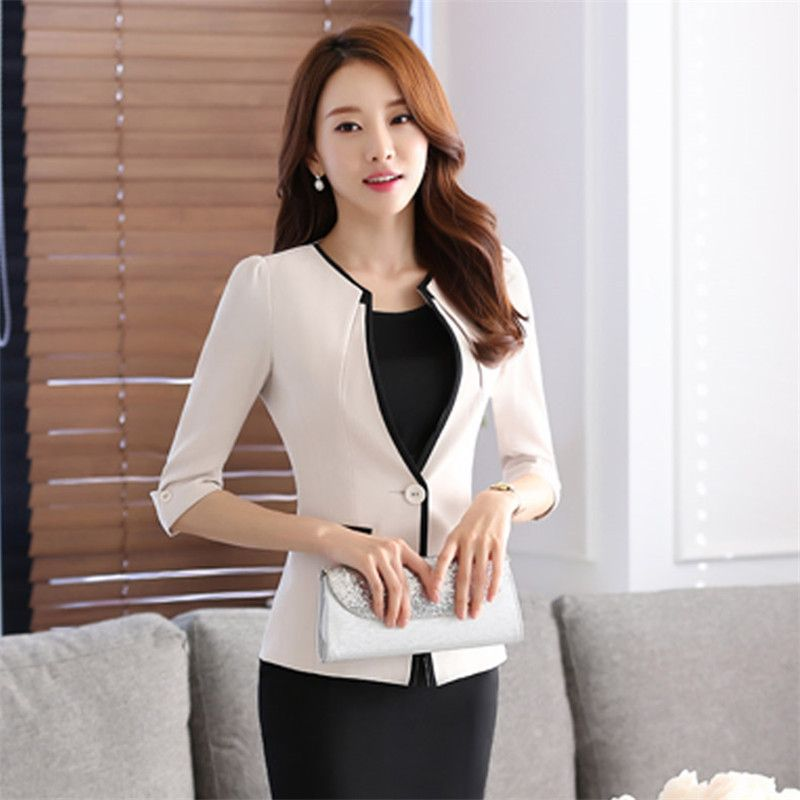 Whole 2016 Summer New Salon At The Front Desk Work Professional Coat Sleeve Skirt Suits Hotel Uniforms Office Clothes Online From China