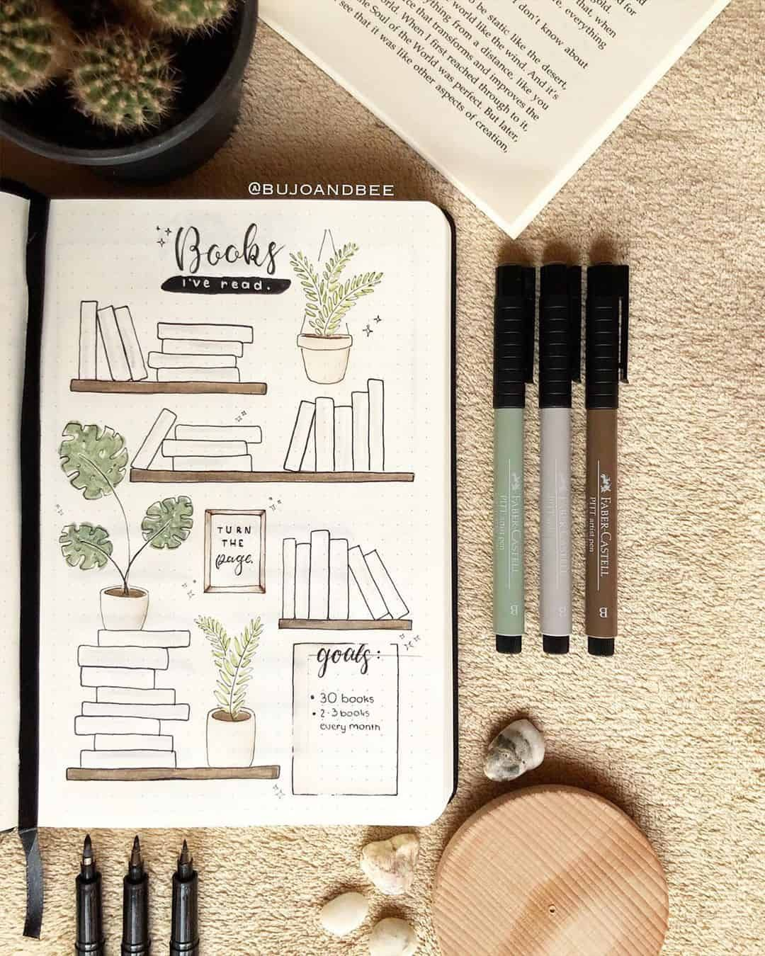 35 Creative Book and Reading trackers for your Bullet journal