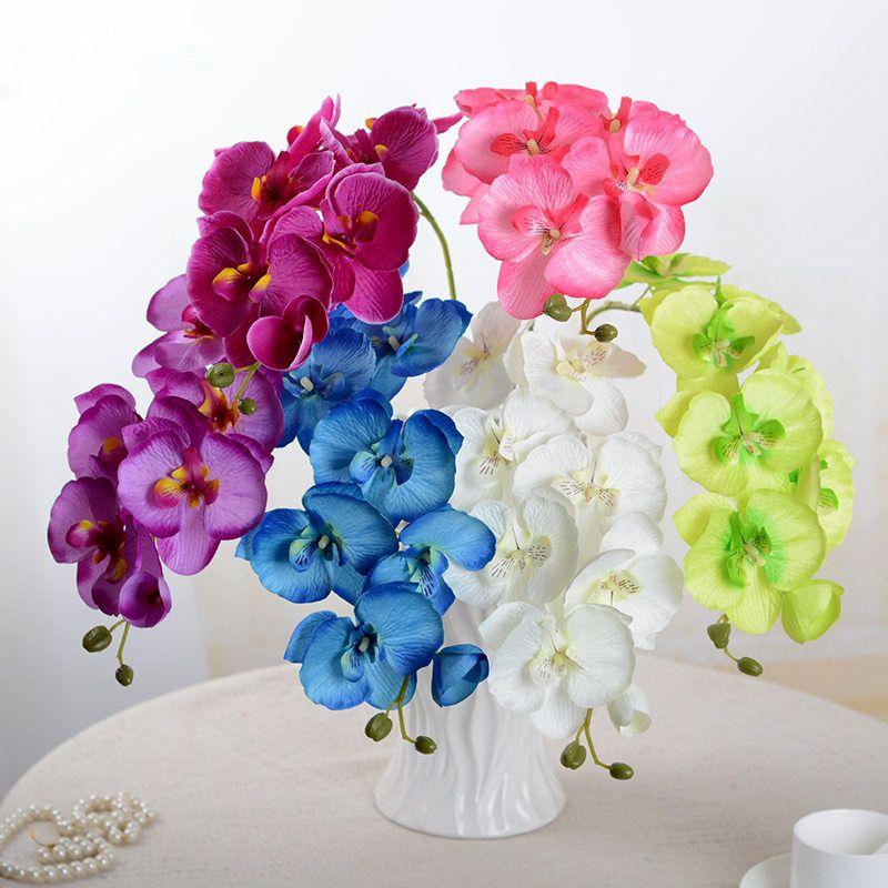 Real touch Künstliche Schmetterling weiße Orchidee blume Seide + ...