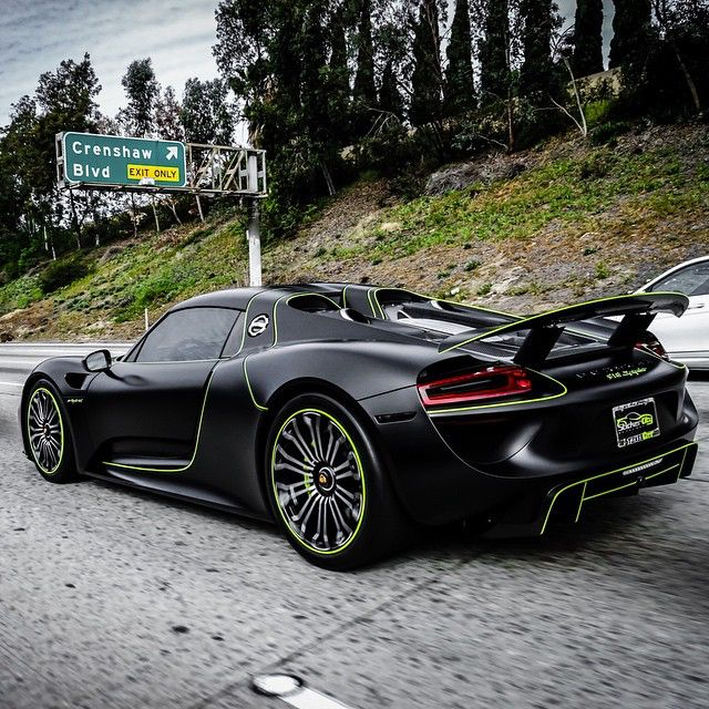 porsche 918 spyder in the hood completely tinted by exotic hypercar specialist fresh. Black Bedroom Furniture Sets. Home Design Ideas