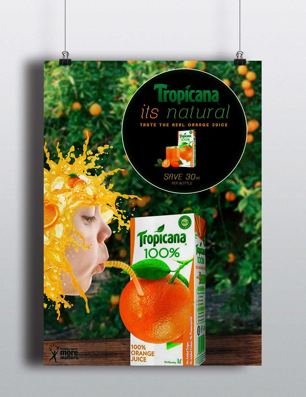 Check Out This Behance Project Tropicana Orange Juice Poster Https Www Behance Net Gallery 36268423 Tropicana Orange Juice P Tropicana Orange Juice Juice