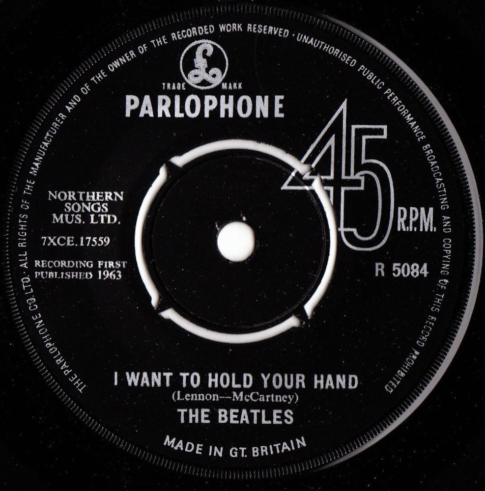 The Beatles I Want To Hold Your Hand Uk Parlophone Records 7 Vinyl Single R5084 The Beatles Beatles Albums Beatles Album Covers