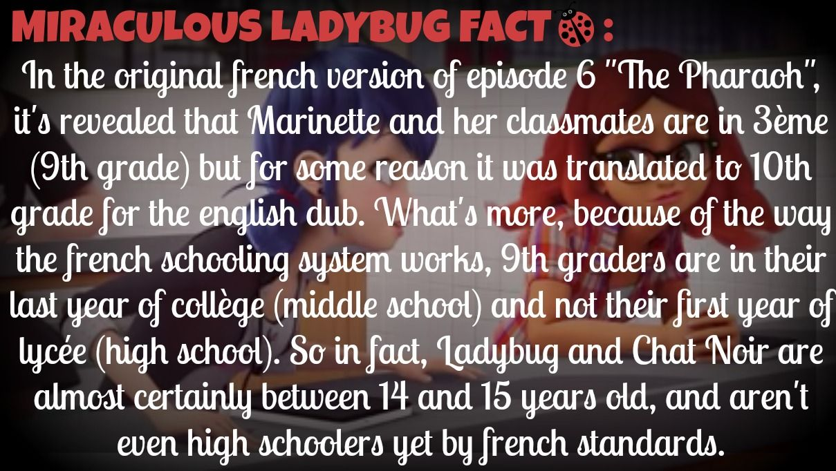 How old are Ladybug/Marinette and Adrien/Chat Noir