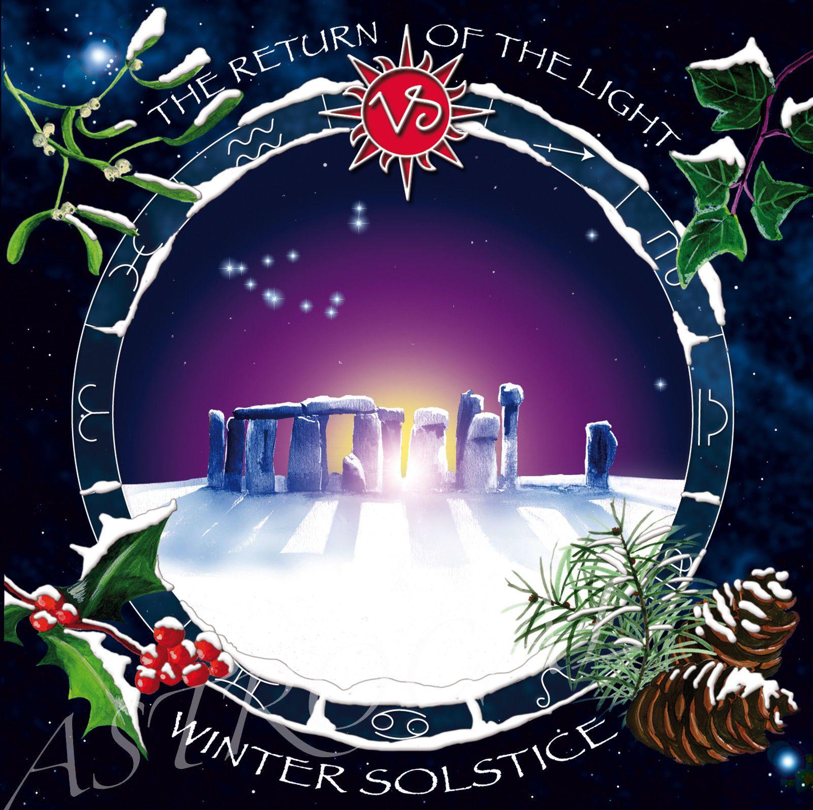 Winter Solstice Yule Cards Set Of 5 Designs Druid Celtic Wicca